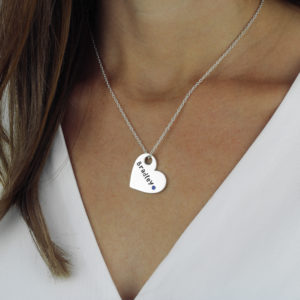 Bold Heart Birthstone Heart Necklace-lifestyle-studio-2