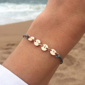 Coin Connector Cord Bracelet-lifestyle
