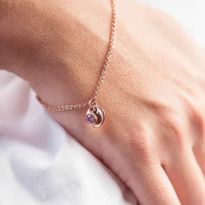 Coin and birthston bracelet-lifestyle-photoshoot