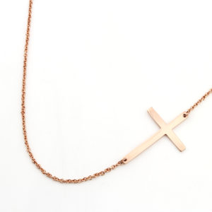 Cross Connector Necklace Silvery