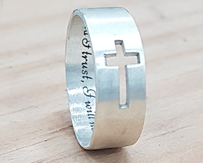 Cross Ring RIng with cross engraved