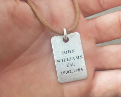 Dog Tag Name Necklace