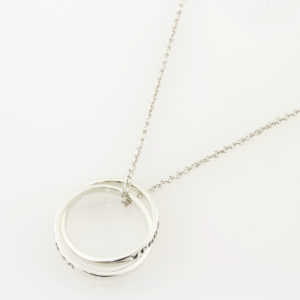 Double Family Ring Necklace Silvery