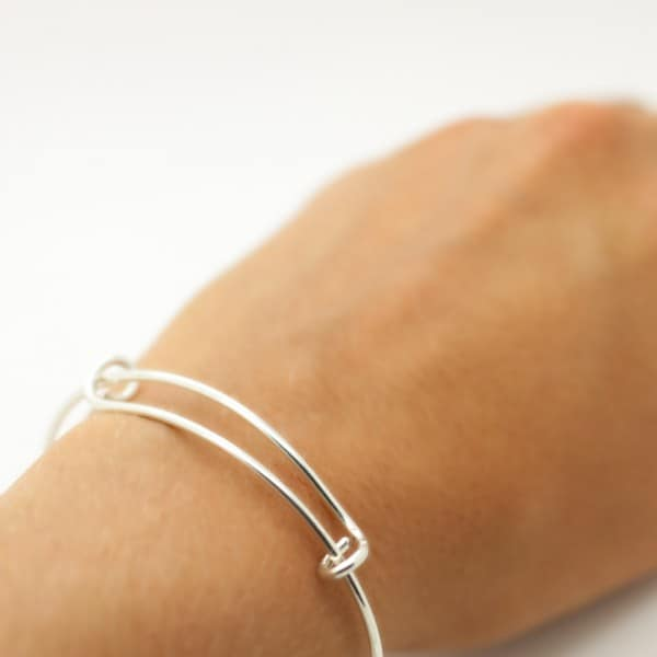 Expandable Bangle Sterling Silver