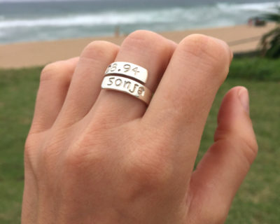 Hand stamped Bold Identity Ring