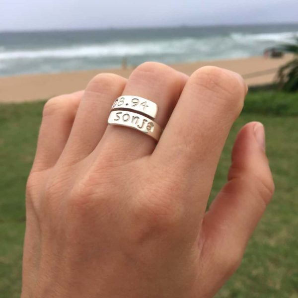 Handstamped Bold Identity Ring