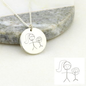 Kids Drawing coin Necklace-5-700x700