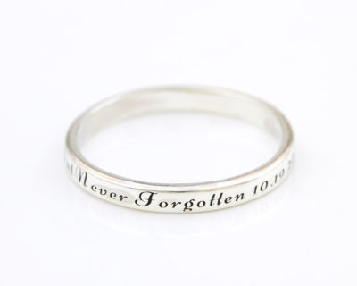 Engraved Dainty Ring