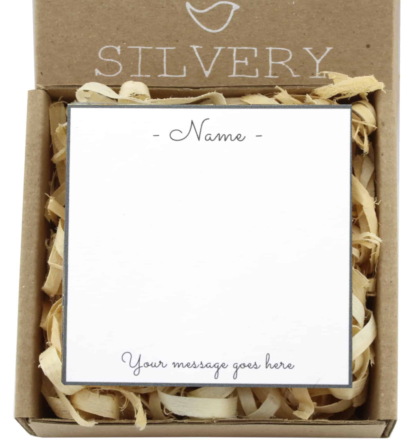 Personalised Card Silvery Jewellery