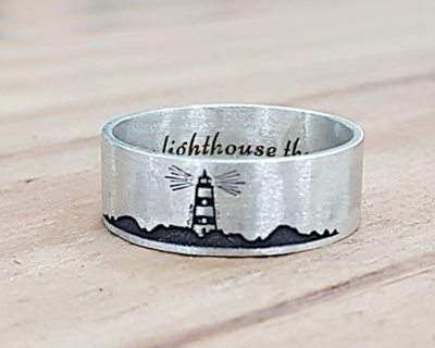 Ring with lighthouse