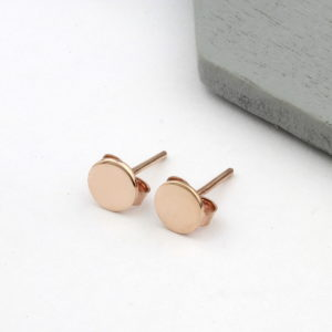 Rose Gold Vermeil Personalised 6mm Stud Earrings