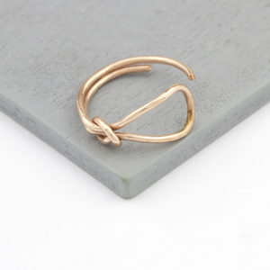 Rose Gold Vermeil Bow Knot Ring