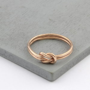 Rose Gold Vermeil Love Knot Ring
