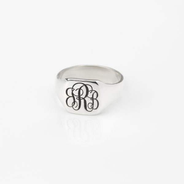 Classic Mens Square Signet Ring