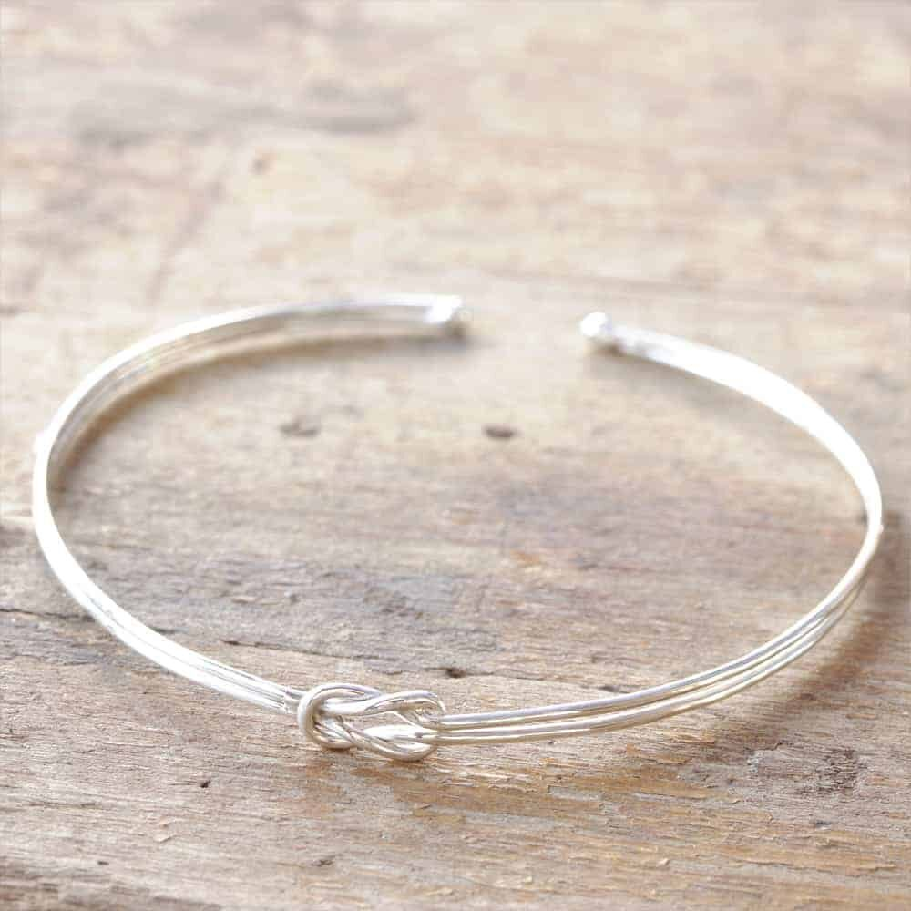 Sterliing Silver Love Knot Bangle_3