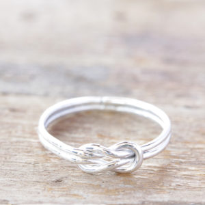 Sterliing Silver Love Knot Ring