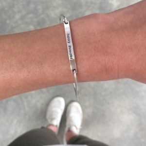 Sterling Silver Bar Bangle with engraving