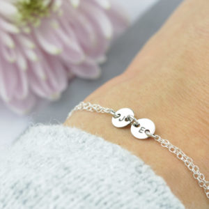 Sterling Silver Twin Coin Connector Bracelet