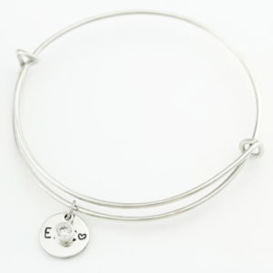 Sterling Silver Expandable Bangle Birthstone