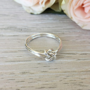 Sterling Silver Friendship Knot ring