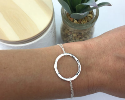 Sterling Silver Personalised Washer Necklace