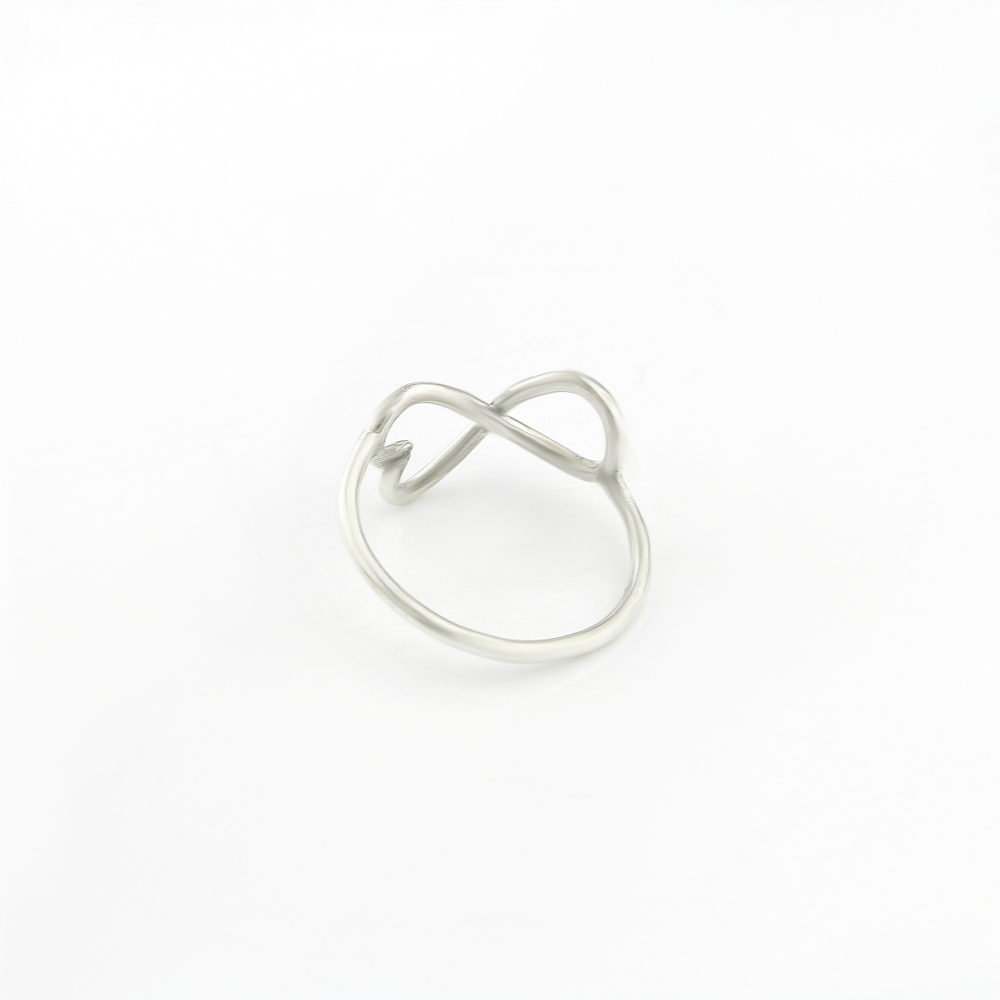 Sterling Silver Infinity Ring Heart