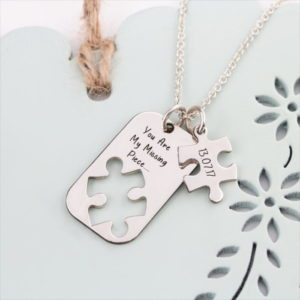 Puzzle Piece Cutout Necklace