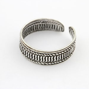 Sterling Silver Patterns Toe Ring