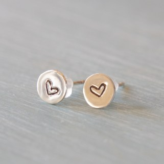 Sterling-Silver-Personalised-Stud-Earrings 2