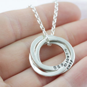 Sterling Silver Triple Washer Pendant