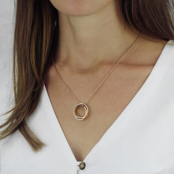 Triple Family Ring Necklace-lifestyle-studio-1