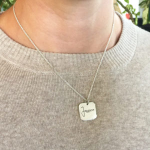 engraved name necklaces