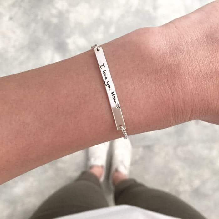 Sterling Silver Name Bar bangle