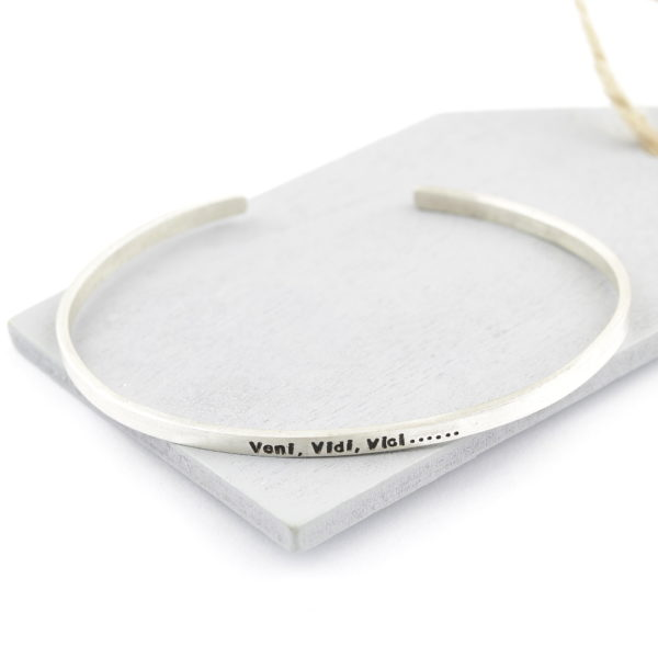 Sterling Silver Cuff Bangle Personalised