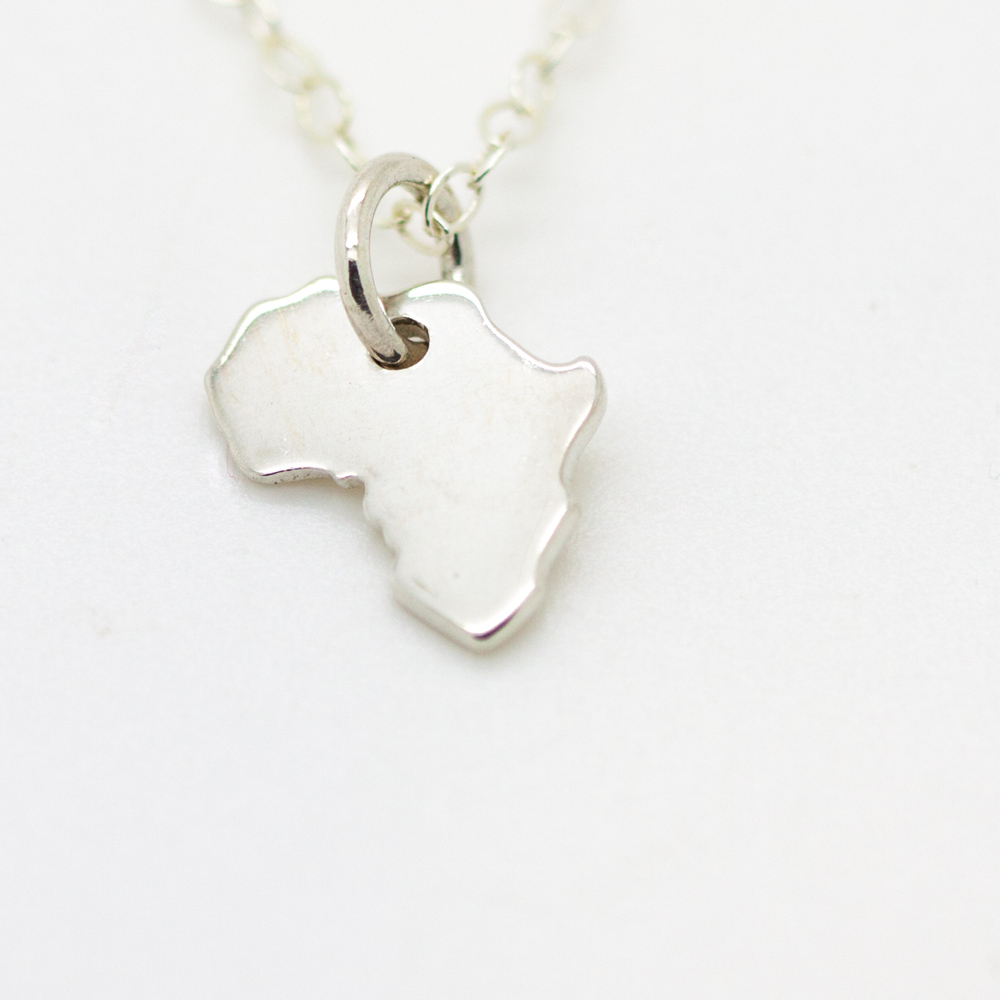 Sterling silver africa pendant necklace from silvery sterling silver africa pendant audiocablefo