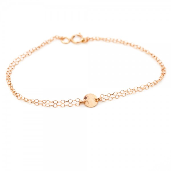 14kt Rose Gold Filled Coin Connector Bracelet