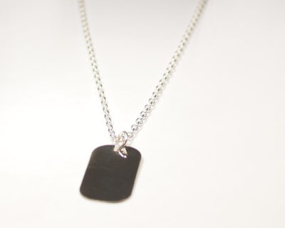 Petite Personalised Dog Tag Necklace