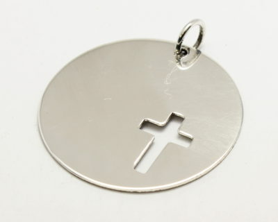 Sterling Silver Cross in Coin