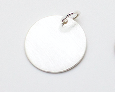 Sterling Silver 2.5cm Coin Pendant