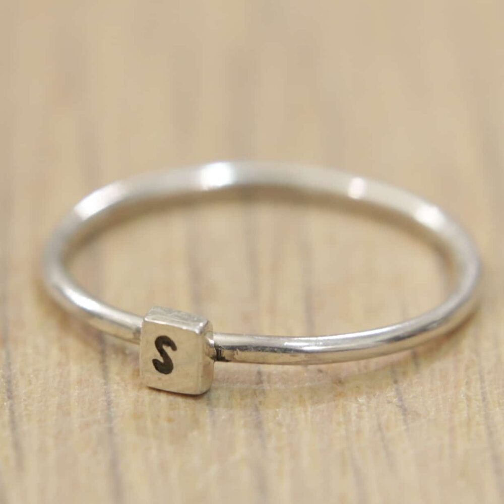 Personalised Letter Ring