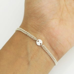 Sterling Silver Coin Connector Bracelet