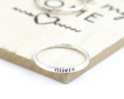 Handstamped IDENTITY Band (priced per ring)