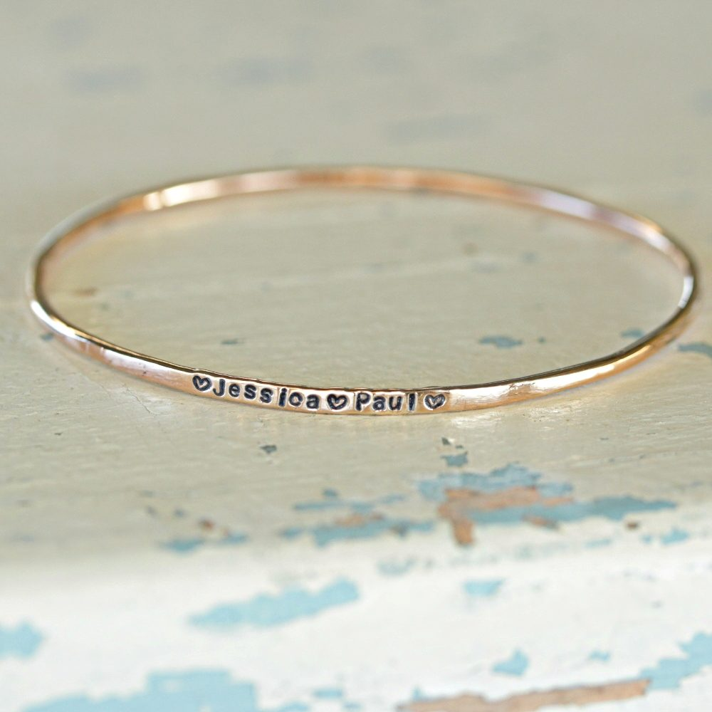 Rose Gold Plated IDENTITY Bangle