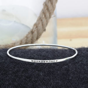 Sterling Silver Identity Bangle