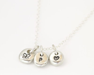 Sterling Silver Petite Pebble Necklace