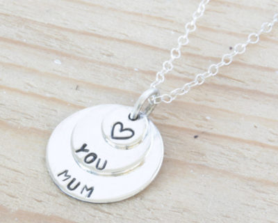 Sterling Silver Coin Family Necklace