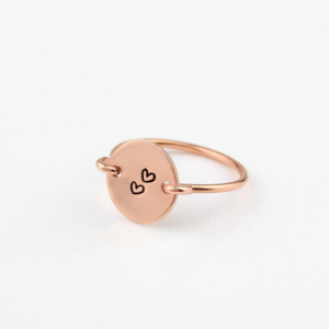 Rose Gold Round Signet Ring
