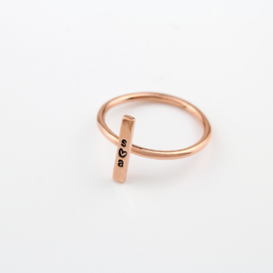 Rose Gold Vertical Bar Ring
