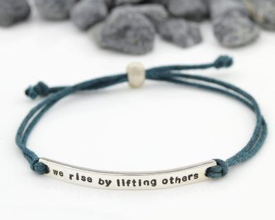 cotton cord bar bracelet