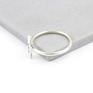 Sterling Silver Vertical Bar Ring 2